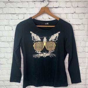 Love Moschino Long Sleeve Spandex Shirt